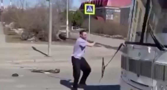 A psychopath with a shovel is a rare sight