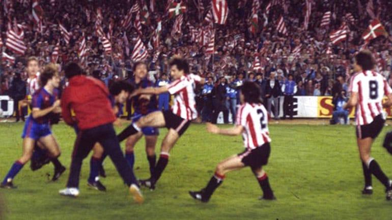 Fight including Maradona (1984) Barcelona vs Athletic Bilbao