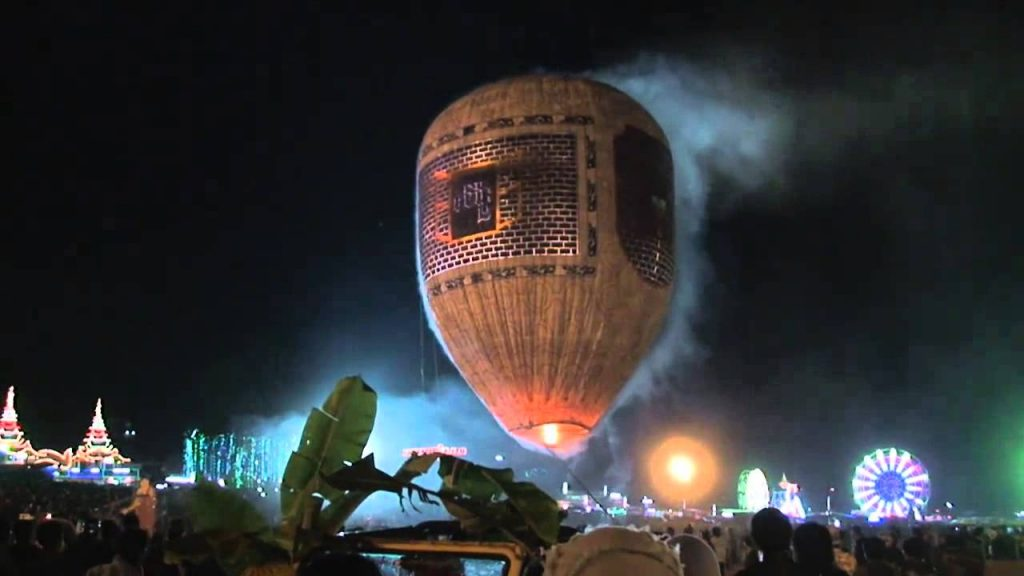 Fireworks on a air balloon, might not have been the best idea.