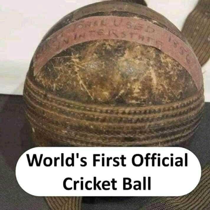 world's firs official Cricket ball