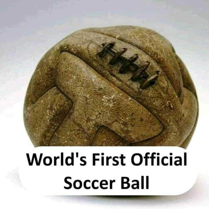 world's first soccer ball