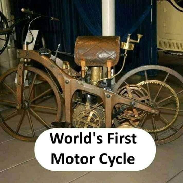 world's first motor cycle