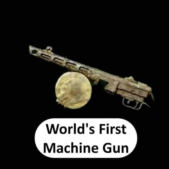 world's first machine gun