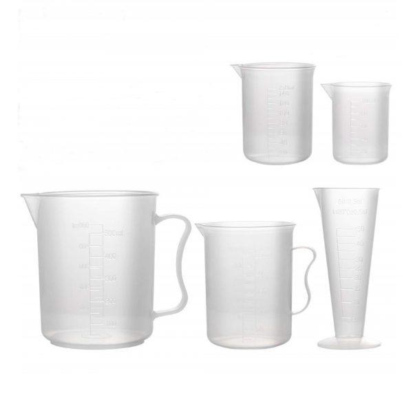 Plastic Measuring Cup Beaker Labs Graduated Beakers 50ml 100ml 150ml 250ml 500ml