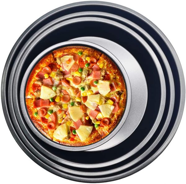 Pizza Tray,Round Pizza Bakeware for Home Kitchen Oven Baking